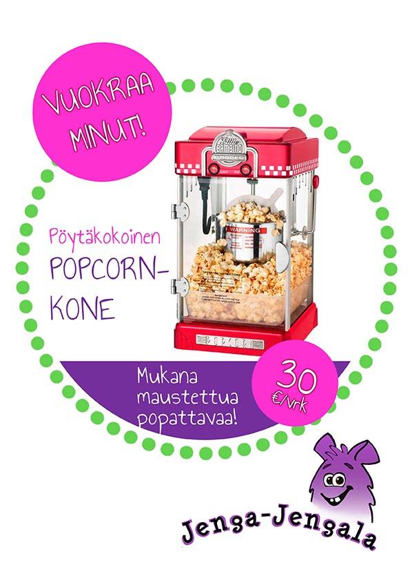 Popcorn kone vuokraus