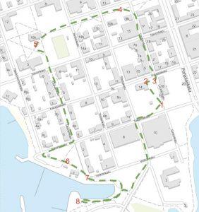 Iisalmi-seikkailun reittikartta
